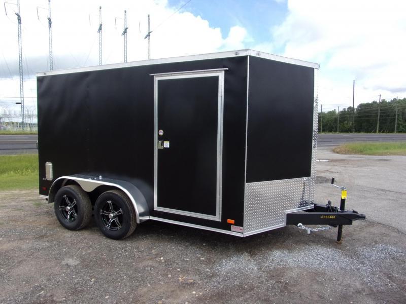 Covered Wagon Trailers 7x12 MCP Black Ramp door Enclosed Cargo Trailer