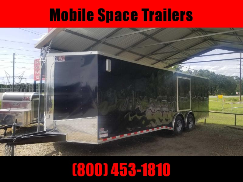 Spartan Cargo 8.5x26 black Spread axles ramp door Enclosed Cargo