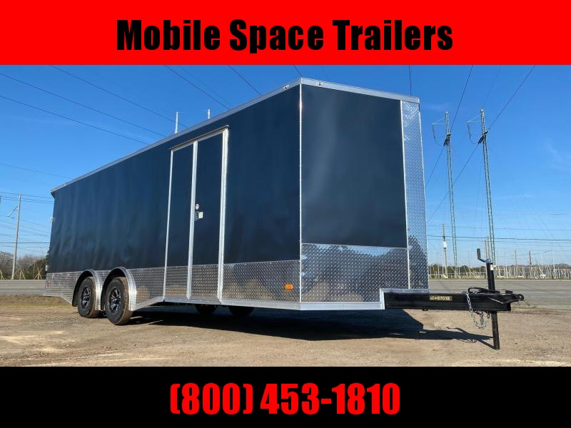 Covered Wagon Trailers 8.5x24 Charcoal Full Width Ramp door Enclosed Cargo