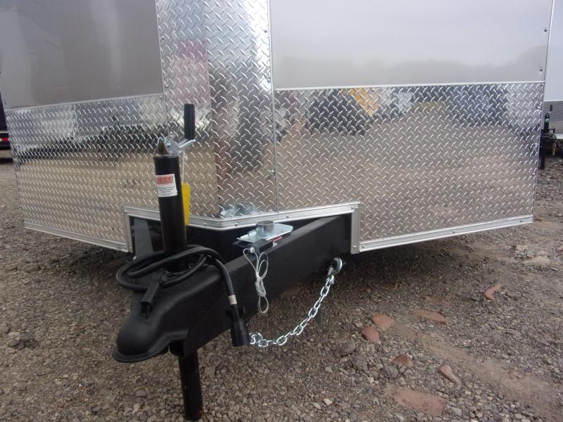 8.5x20 Light Pewter Ramp door Enclosed Cargo Car Hauler