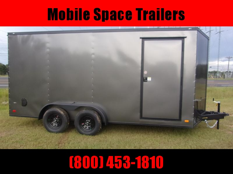 Covered Wagon Trailers 7X16 Charcoal Blackout Enclosed Cargo Trailer