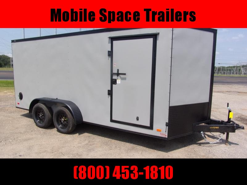 Covered Wagon Trailers 7X16 Silver Blackout Enclosed Cargo Trailer