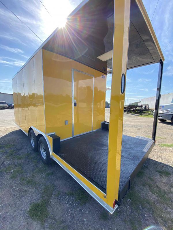 8.5x20 Concession W/ 7' Porch Vending / Food Trailer