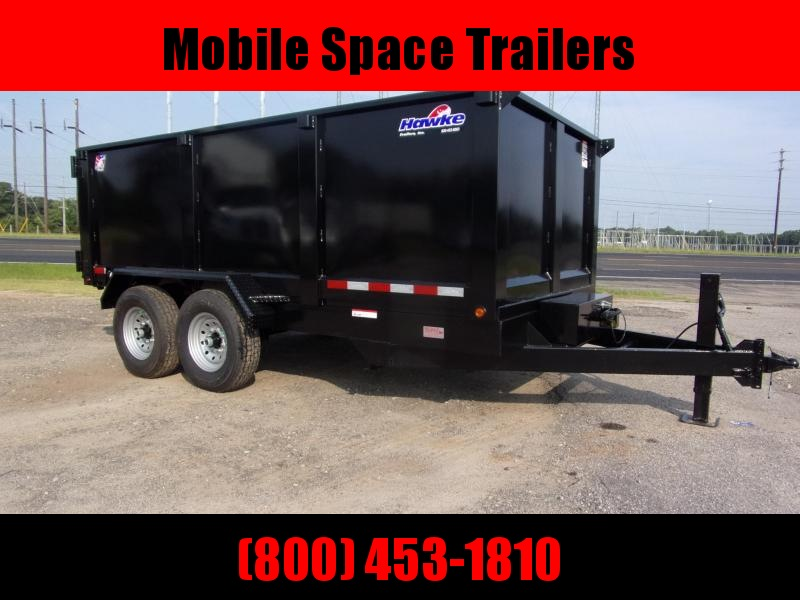 Hawke 7x14 48 high side 14k Low Pro Dump Trailer