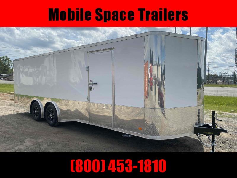 Covered Wagon Trailers 8.5x24 MCP Black Spread axles ramp door Enclosed Cargo