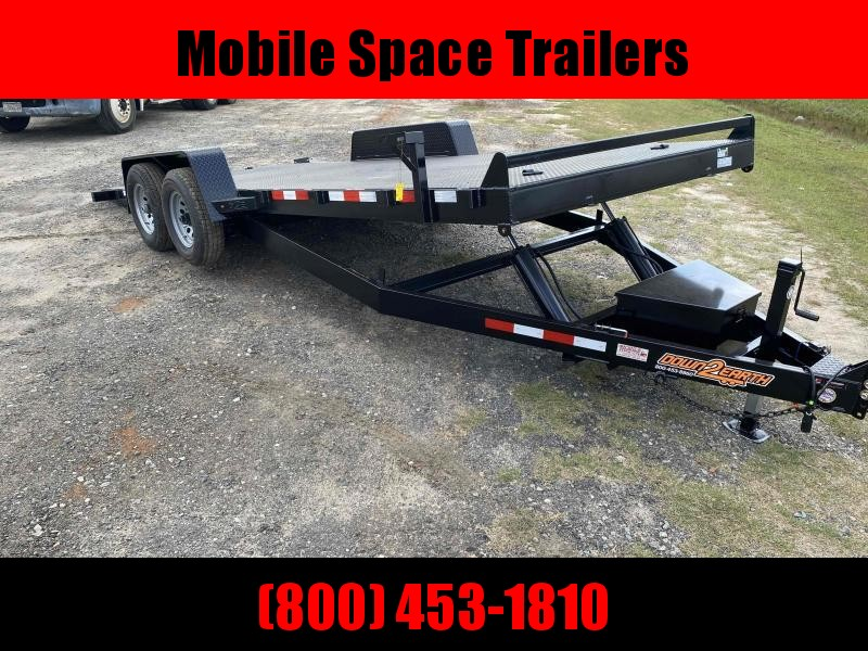 82x20 10k Power Tilt Steel Deck Equipment Trailer