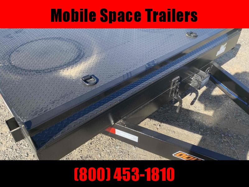 82x18 7k Gravity Tilt Wood Deck Equipment Trailer