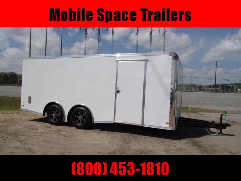 Covered Wagon Trailer 8.5X20 White Spread Axle Car Hauler