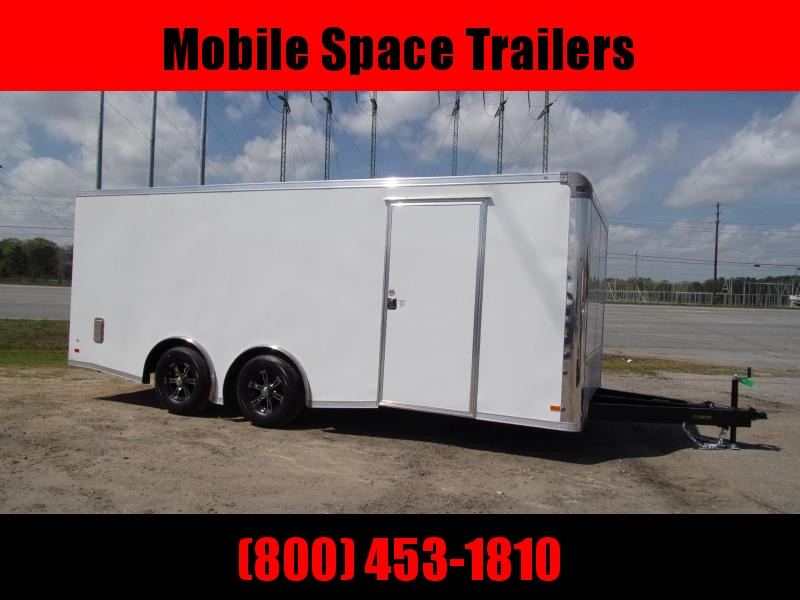 Covered Wagon Trailer 8.5X20 White Spread Axle Car Hauler