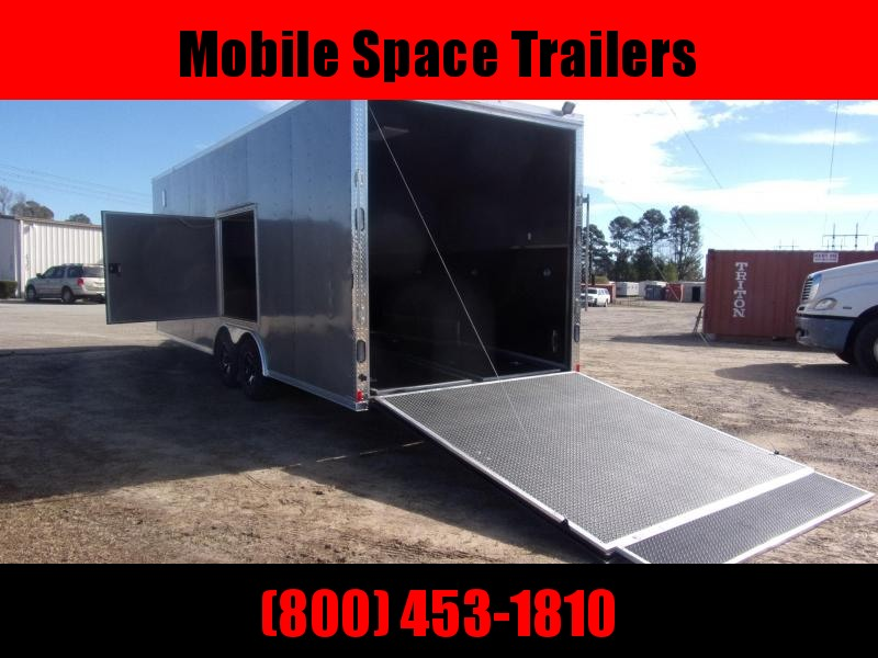 Rock Solid Cargo 8.5X24 Pewter 10k 8' Interior Race Ready Car / Racing Trailer