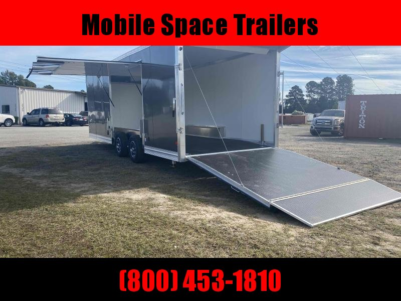 Aluminum 8.5x24 Tandem Axle Charcoal Enclosed Car hauler / Racing Trailer