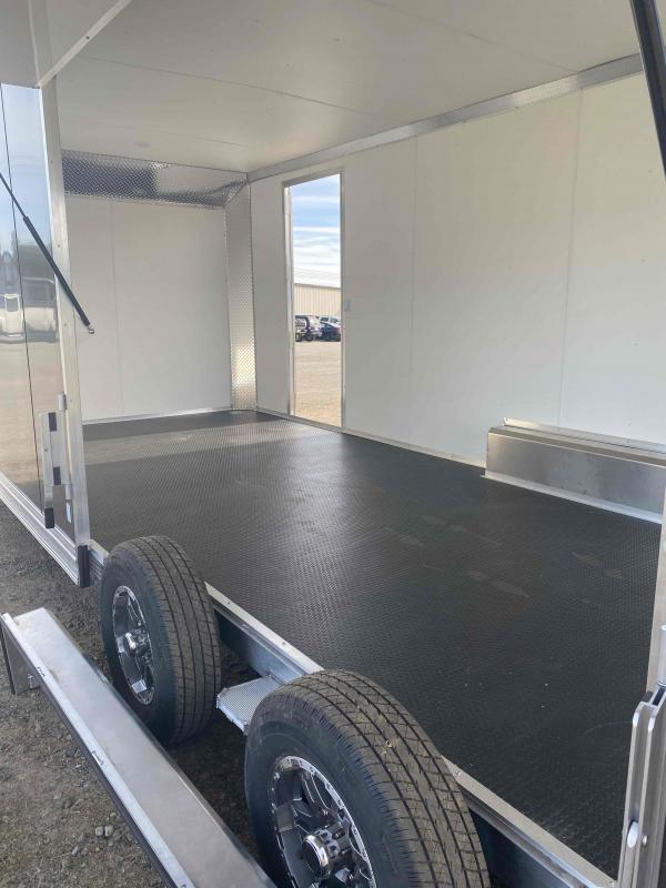 Aluminum 8.5x24 Tandem Axle Charcoal Enclosed Car hauler / Racing Trailer