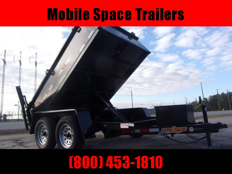 "Down 2 Earth Trailers 6x10 24"" high side 7k Dump Trailer"