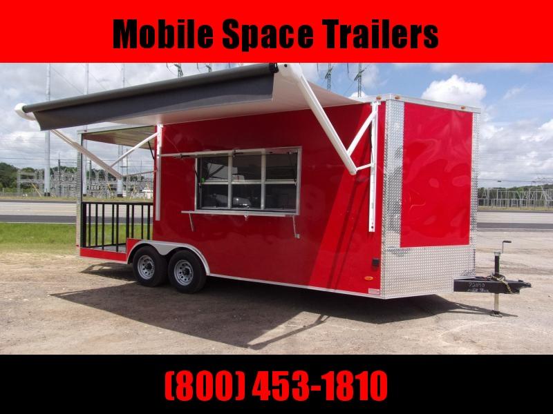 Freedom Trailers 8.5x20 Concession W/ 7' Porch Vending / Concession Trailer