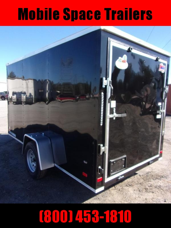 6x12 Ramp Door Black Enclosed Cargo Trailer