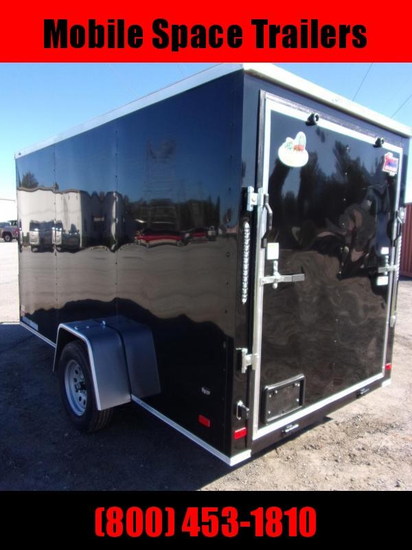6x12 Ramp Door Black Enclosed Cargo Trailer