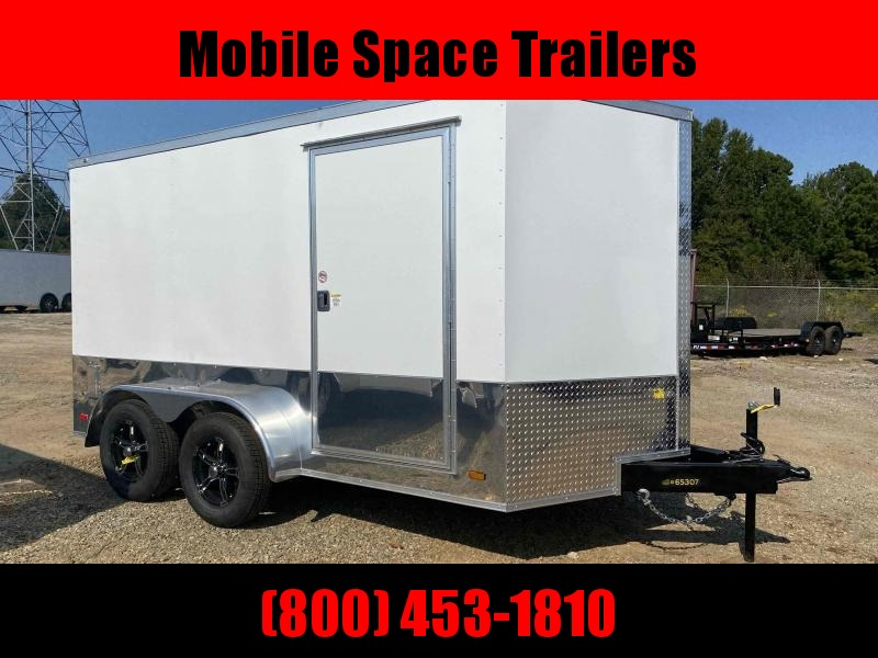 Covered Wagon Trailers 7x12 MCP ramp door Enclosed Cargo Trailer