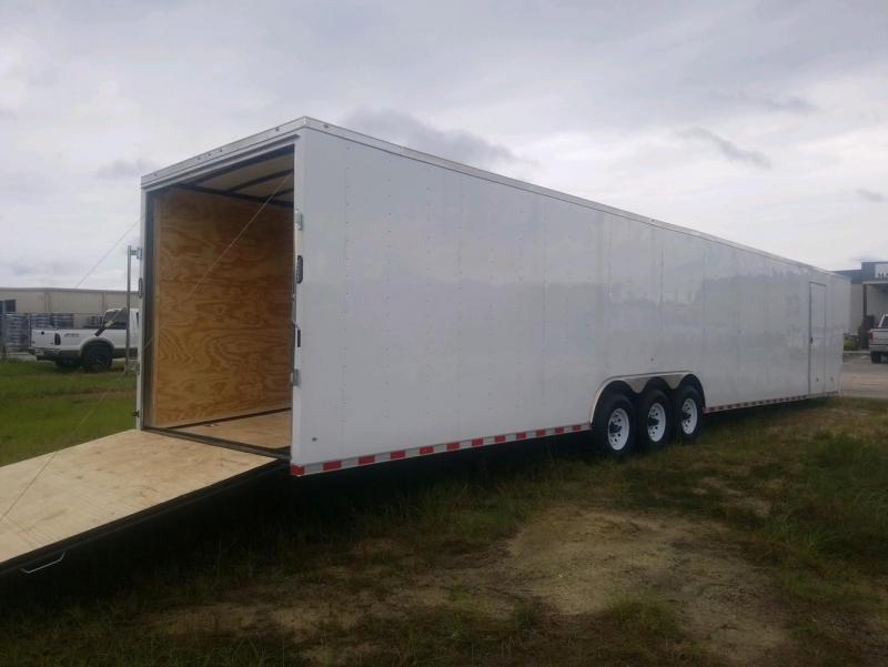2022 Rock Solid Cargo 8.5X50 White Gooseneck Carhauler w/ Floor E-Trac Enclosed Cargo Trailer