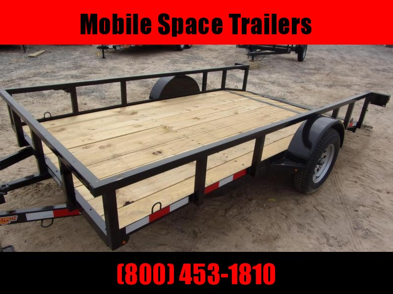 Down 2 Earth Trailers 76x14ut Utility Trailer with dove tail
