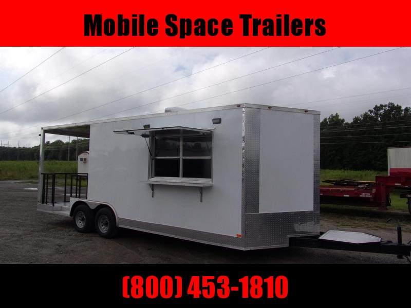 Empire 8.5x22 Concession 12' box 8' Porch Vending / cargo Trailer