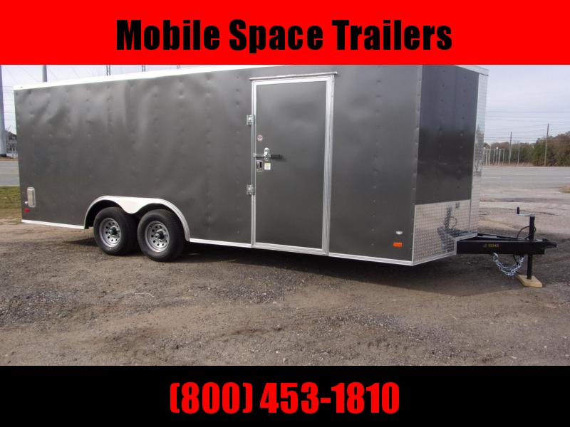 8.5X20 Charcoal Car Hauler Enclosed Cargo Trailer