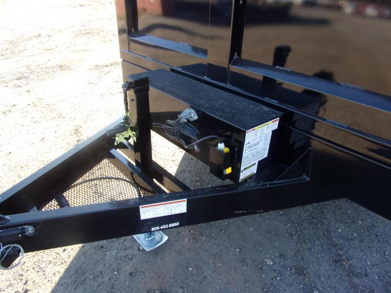 Hawke 7x12 36 high side 12k Low Pro Dump Trailer w Tarp
