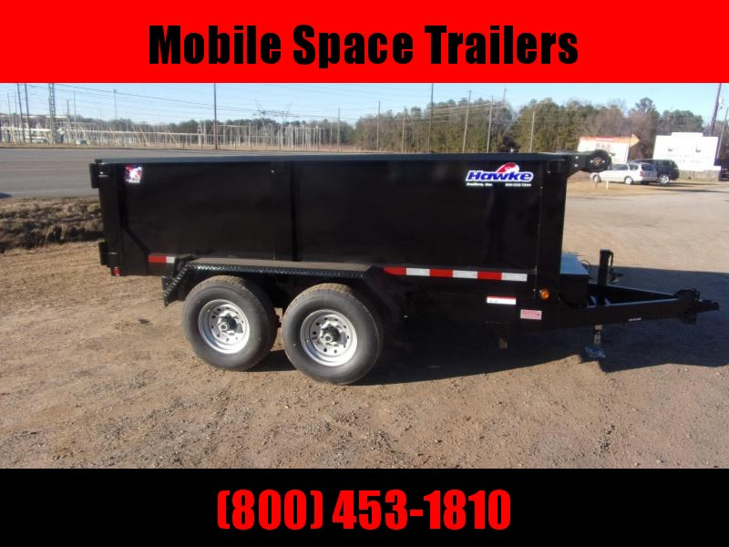 Hawke 7x12 36 high side 12k Low Pro Dump Trailer w Tarp
