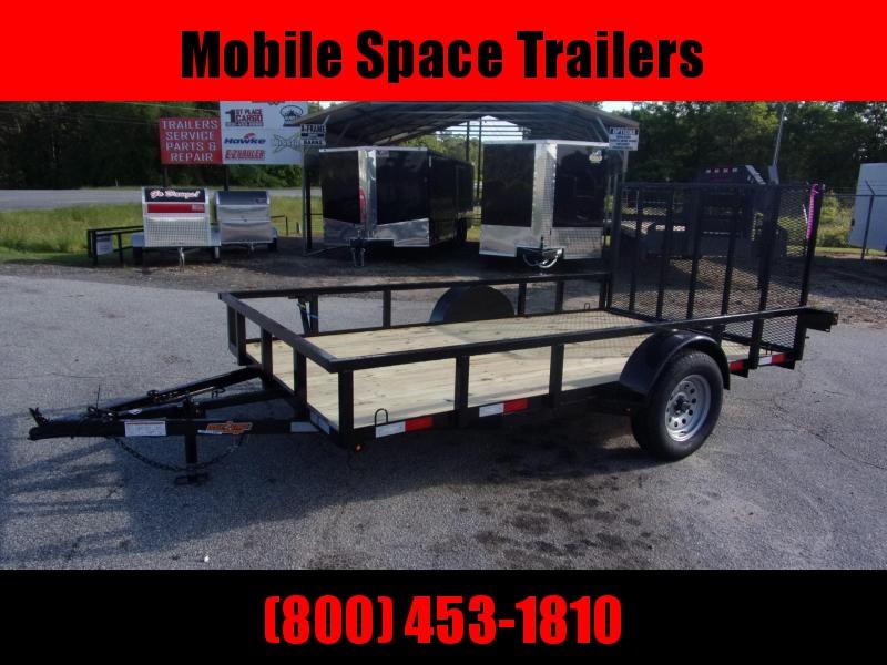 Down 2 Earth Trailers 76x12ut Wood Deck Utility Trailer single axle
