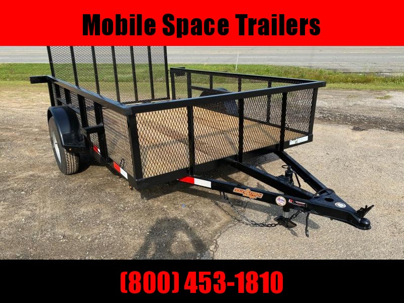 Down 2 Earth Trailers 76x10ut Utility Trailer mesh sides