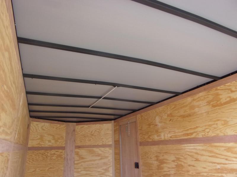 "Trailer 7x14 6'3"" black W/ Ramp Door Enclosed Cargo screwlessTrailer"