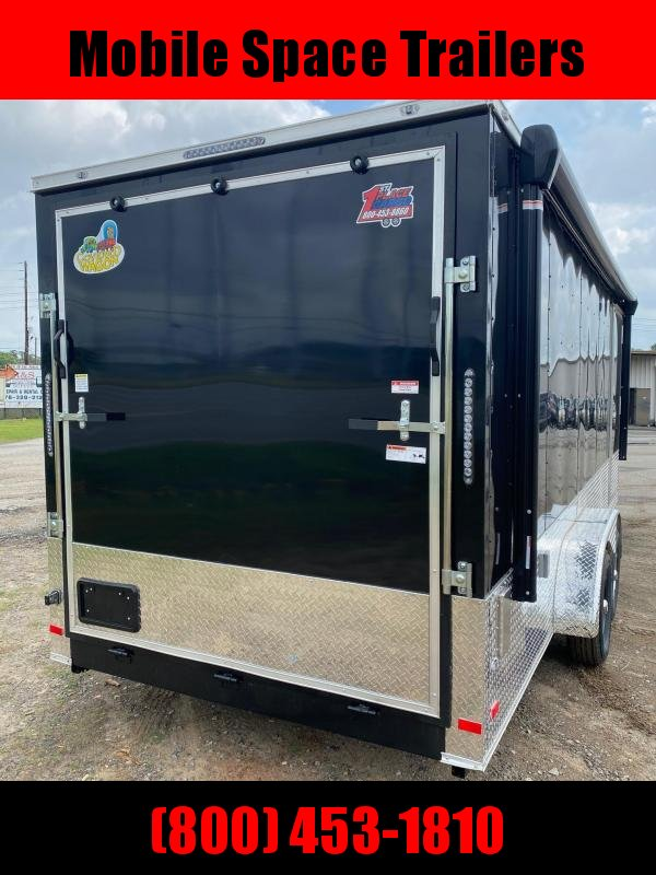 7x20 Finished AC Elec PKG ramp door Enclosed Cargo Trailer