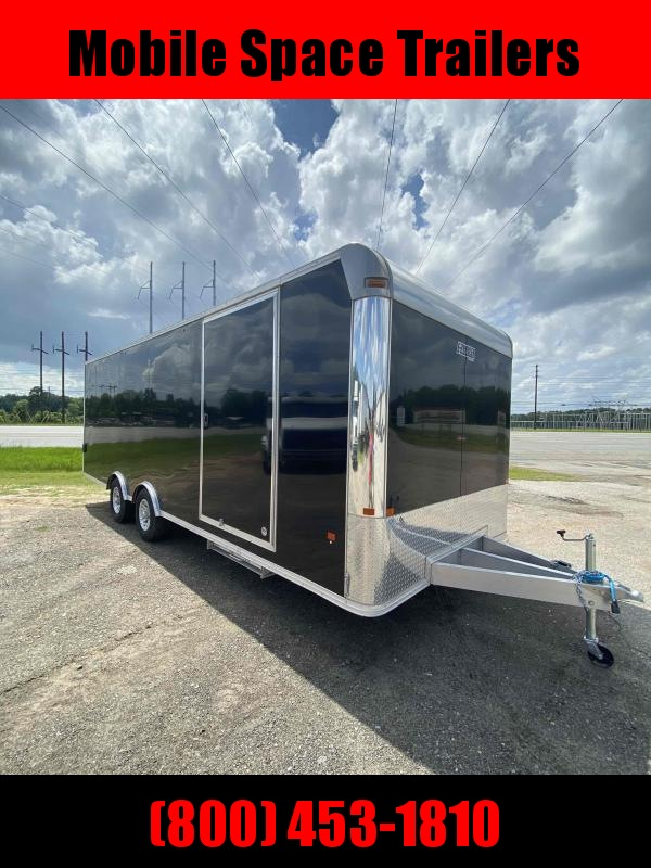 Aluminum 8.5x24 Tandem Axle Black Car hauler / Racing Trailer