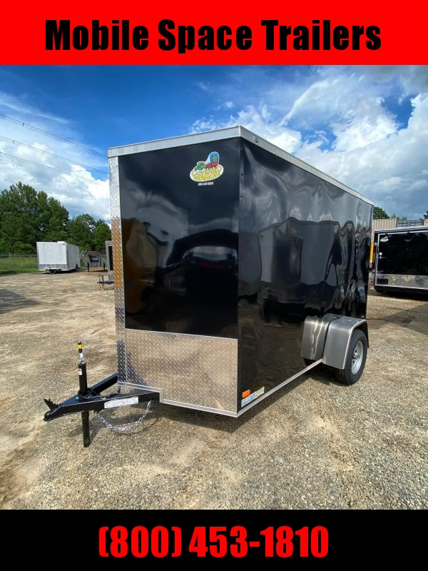 2020 Covered Wagon Trailers 6X10 Black Enclosed Cargo Trailer