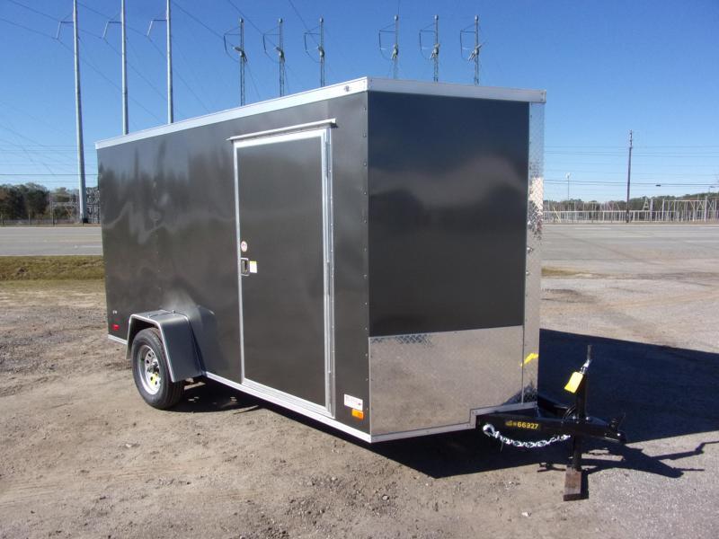 6x12 Ramp Door Charcoal Enclosed Cargo Trailer