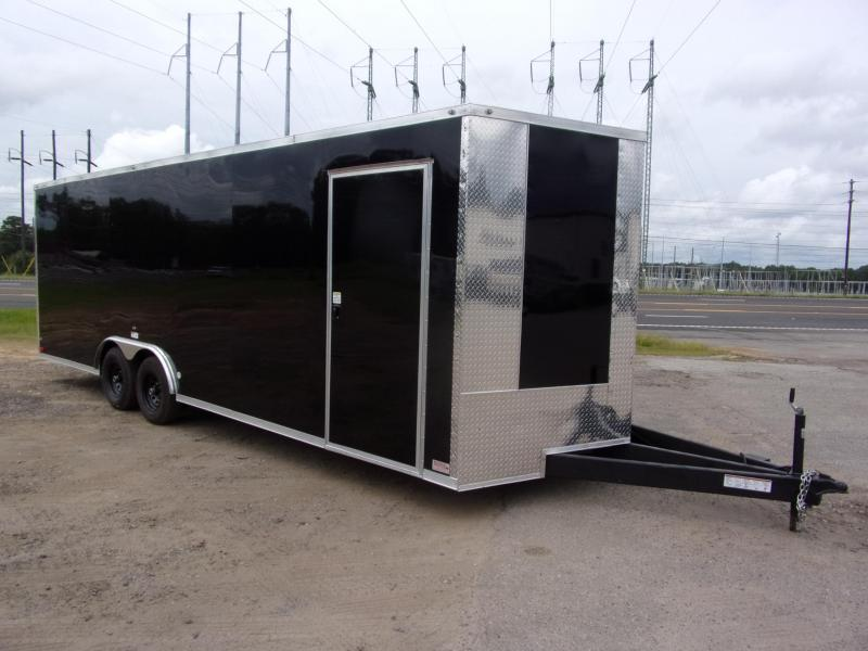 8.5x24 10k Black Carhauler w/ ramp door Enclosed Cargo
