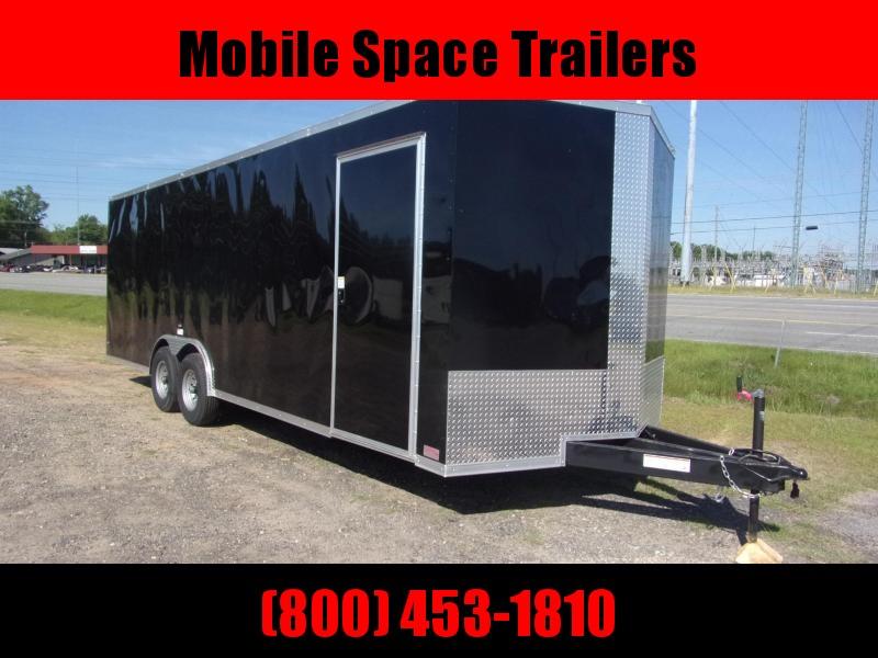 8.5x24 14k Black Carhauler w/ ramp door Enclosed Cargo
