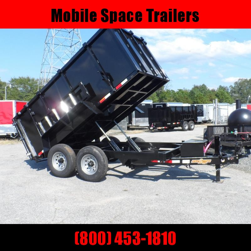 Down 2 Earth Trailers 7x12 48 high side 14k Dump Trailer