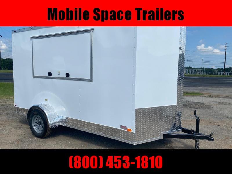 6x12 3x6 Window White Enclosed Cargo Concesion