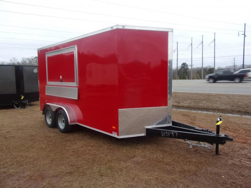 7X14 red Finished Interior Electrical A/C Vending / Concession Trailer