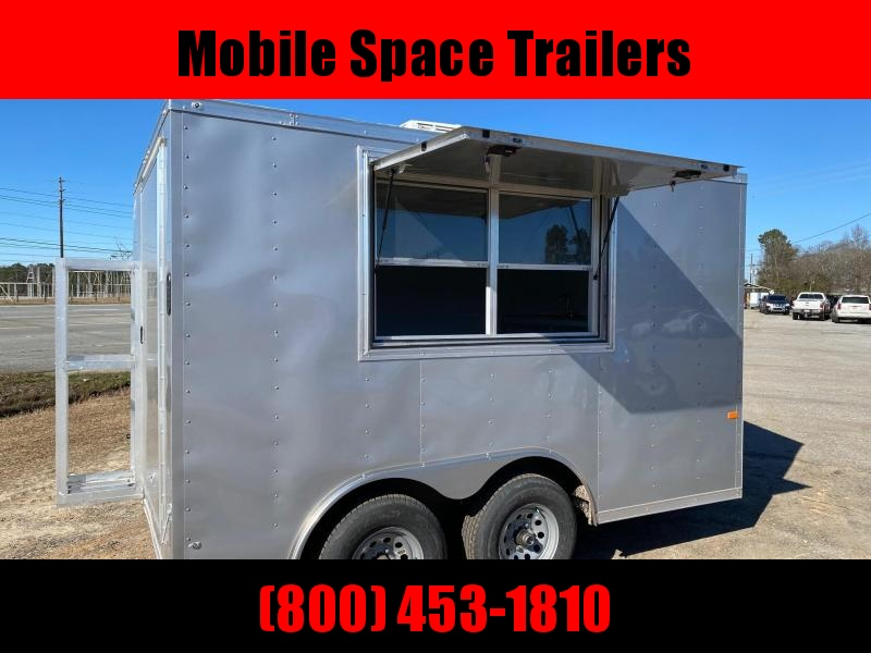 8.5x12 enclosed cargo 3x6 glass and sceen Concession Vending Concession Trailer