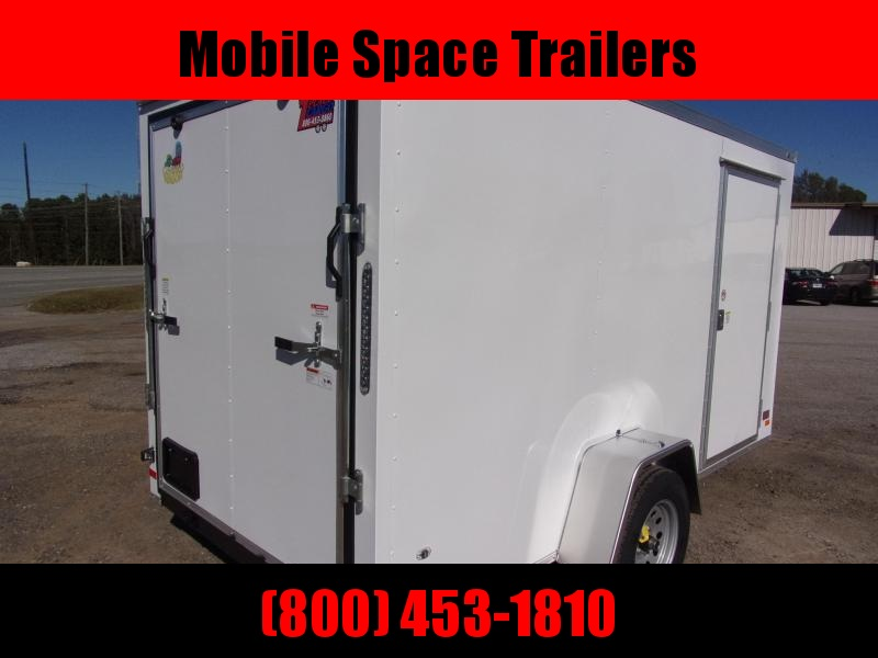 6x12 Ramp Door White Enclosed Cargo Trailer