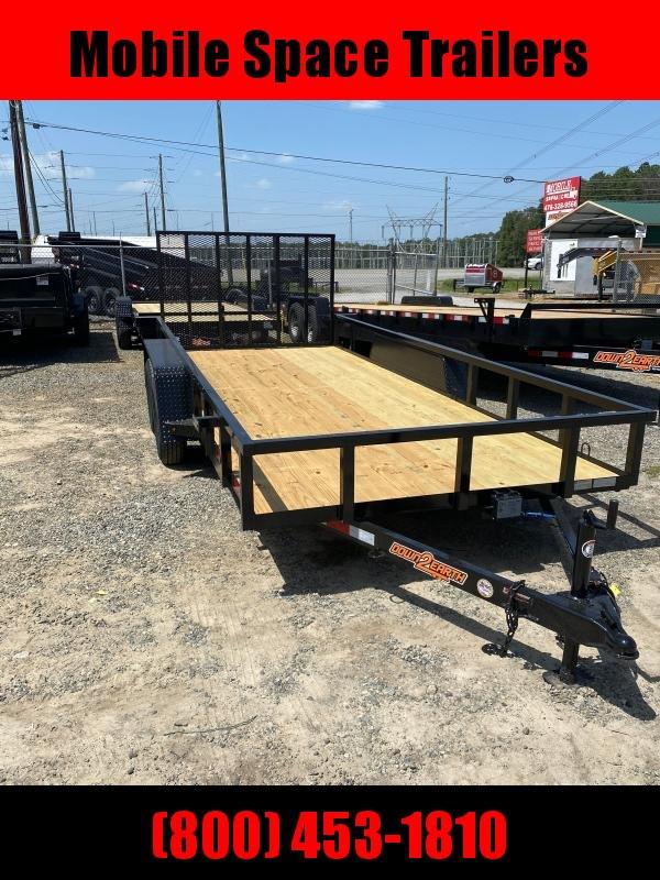 2020 Down 2 Earth Trailers 82X20 7K Wood Deck Utility Trailer