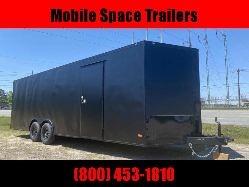 Covered Wagon Trailers 8.5x24 Bk Black out ramp door Enclosed Cargo