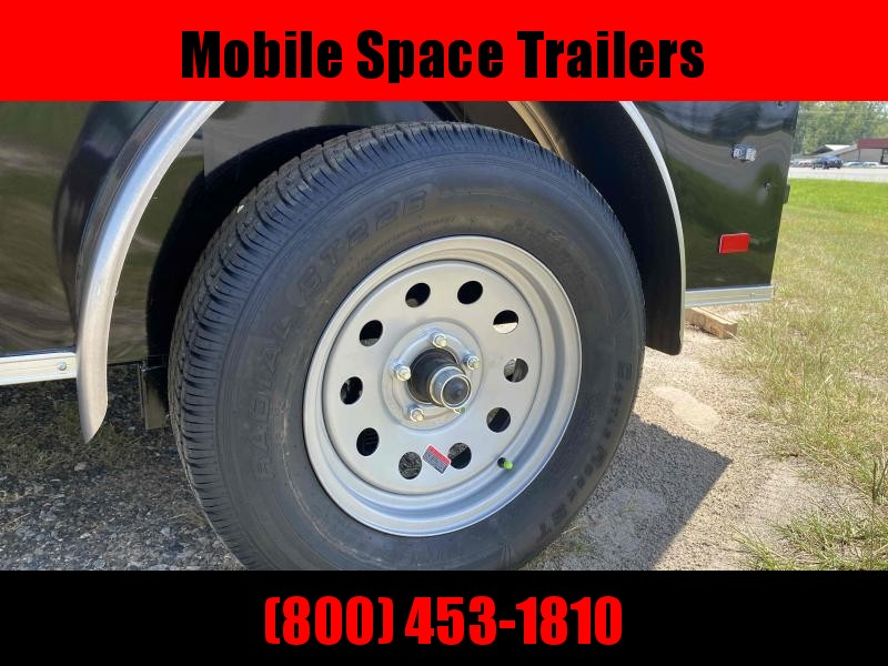 Covered Wagon Trailers 5x8 V-Nose w/ Ramp door Enclosed Cargo Trailer