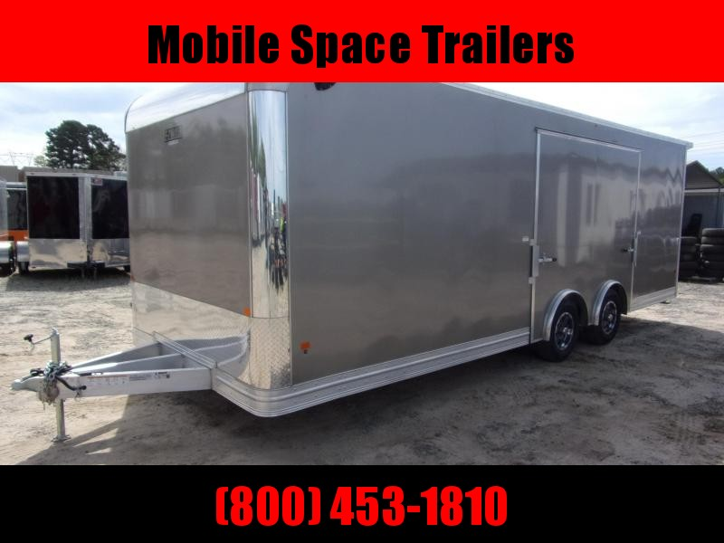 Mission 8.5x20 car hauler trailer spread axle ramp door Elite Ecsape door