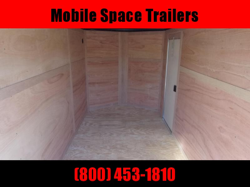 6x12 Ramp Door Silver Enclosed Cargo Trailer