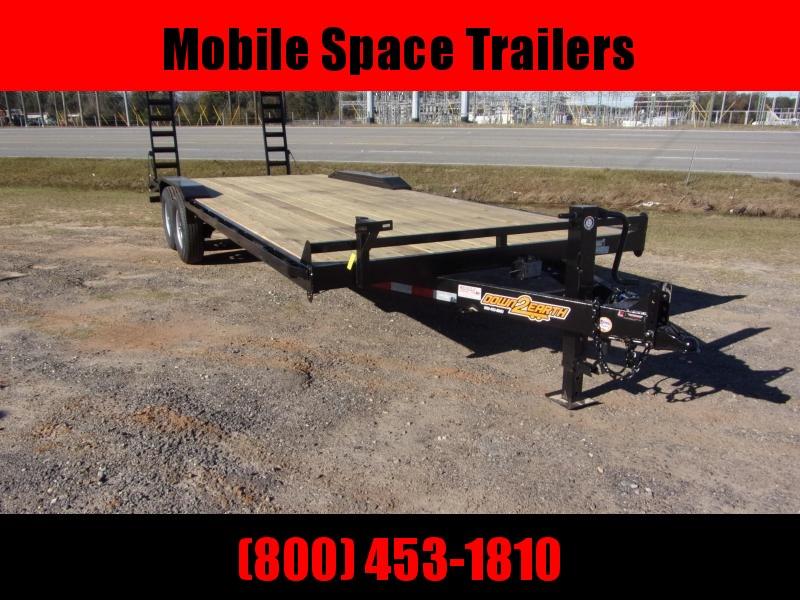 Down 2 Earth equipment trailer102x24 drive over fenders 14k gvwr