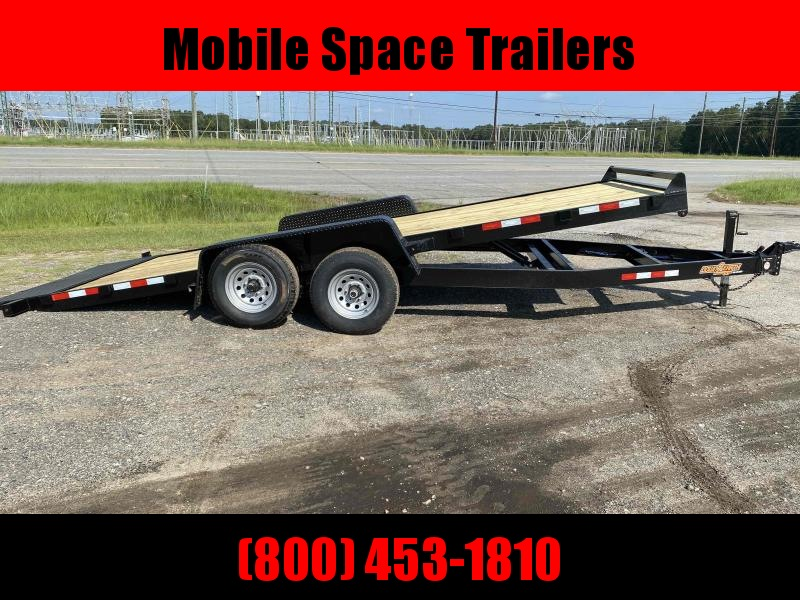 Down 2 Earth Trailers 82x20 10k Gravity Tilt Wood Deck Equipment Trailer