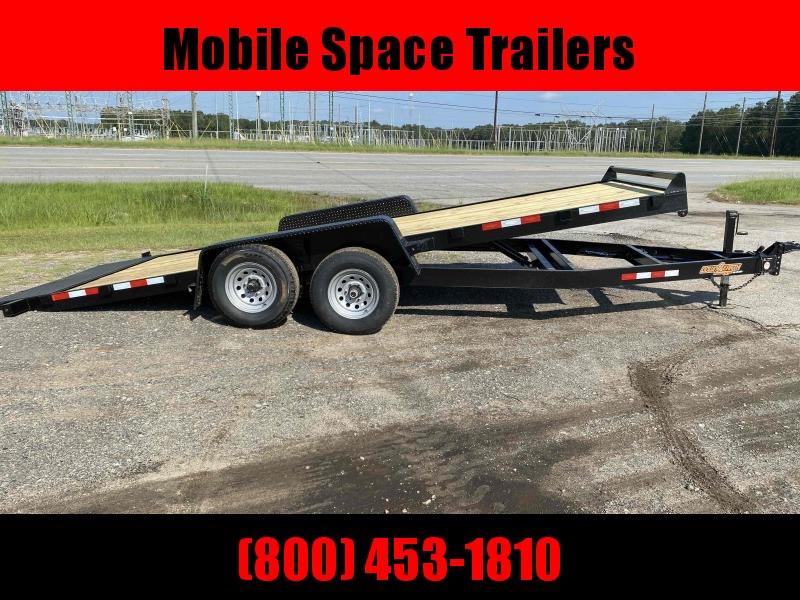 Down 2 Earth Trailers 82x20 10k Gravity Tilt Wood Deck Equipment Trailer