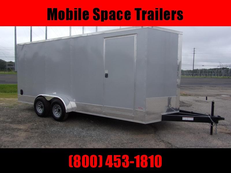 7x18 Silver 10K 7' Interior W Ramp Door Enclosed Cargo screwlessTrailer